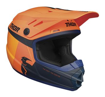 Casque cross enfant Thor 2021 Sector Racer - Orange Bleu