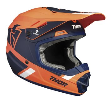 Casque cross enfant Thor 2021 Sector Split - Orange Bleu