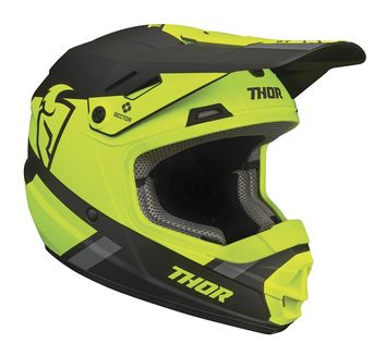 Casque cross enfant Thor 2021 Sector Split - Jaune Acid Noir