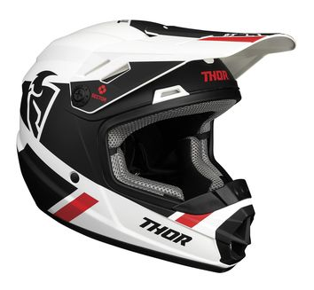 Casque cross enfant Thor 2021 Sector Split - Blanc Noir