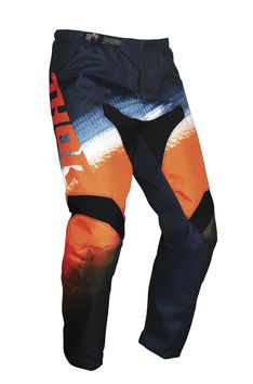 Pantalon cross enfant Thor 2021 Sector Vapor - Orange Bleu