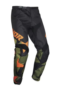 Pantalon cross enfant Thor 2021 Sector Wharship - Vert Orange