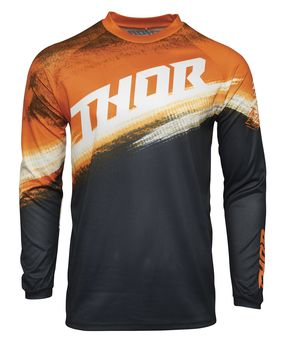 Maillot cross enfant Thor 2021 Sector Vapor - Orange Bleu