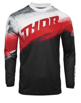Maillot cross enfant Thor 2021 Sector Vapor - Noir Rouge