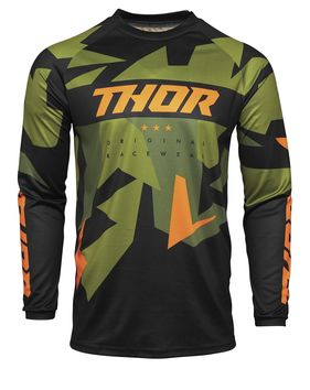 Maillot cross enfant Thor 2021 Sector Wharship - Vert Orange