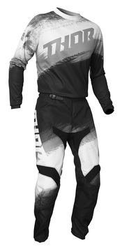 Tenue cross 2021 Thor Sector Vapor - Noir Blanc