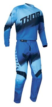 Tenue cross enfant 2021 Thor Sector Vapor - Bleu