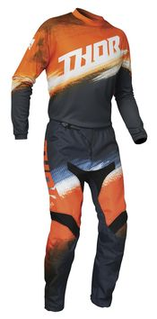 Tenue cross enfant 2021 Thor Sector Vapor - Orange Bleu