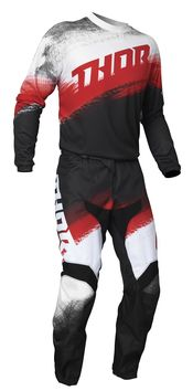 Tenue cross enfant 2021 Thor Sector Vapor - Rouge Noir