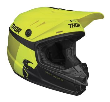Casque cross enfant Thor 2021 Sector Racer - Jaune Acid Lime