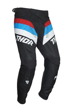 Pantalon cross Thor 2021 Pulse Racer - Noir Rouge Bleu