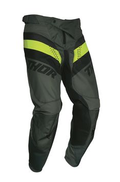 Pantalon cross Thor 2021 Pulse Racer - Kaki Army Jaune Acid