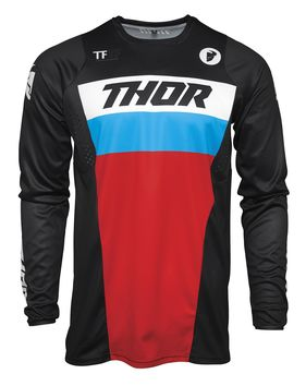 Maillot cross Thor 2021 Pulse Racer - Noir Rouge Bleu