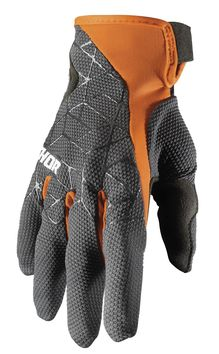 Gants cross Thor 2021 Draft - Gris Orange