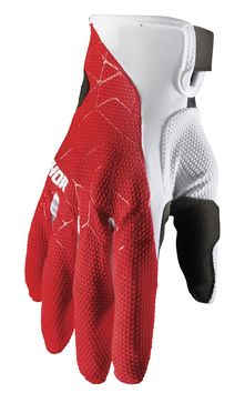 Gants cross Thor 2021 Draft - Rouge Blanc