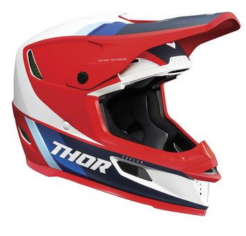 Casque cross Thor 2021 Reflex Apex MIPS - Rouge Blanc Bleu