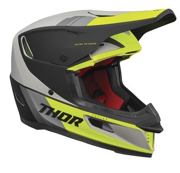 Casque cross Thor 2021 Reflex Apex MIPS - Jaune Acid Gris
