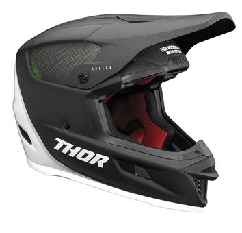 Casque cross Thor 2021 Reflex Carbon Polar MIPS - Carbone Blanc