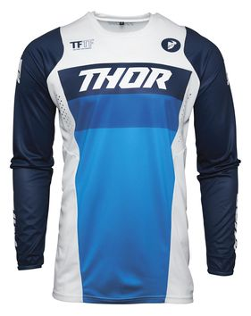 Maillot cross enfant Thor 2021 Pulse - Blanc Bleu