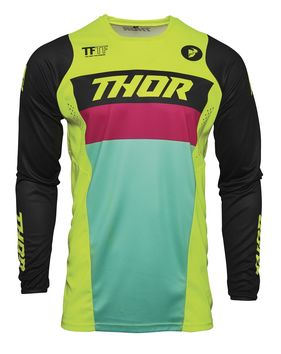 Maillot cross enfant Thor 2021 Pulse - Jaune Acid Noir