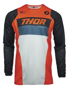 Maillot cross enfant Thor 2021 Pulse - Orange Bleu Midnight
