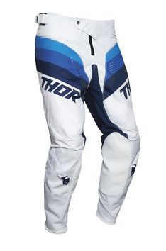 Pantalon cross enfant Thor 2021 Pulse - Blanc Bleu
