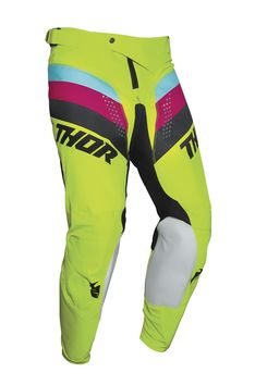Pantalon cross enfant Thor 2021 Pulse - Jaune Acid Noir
