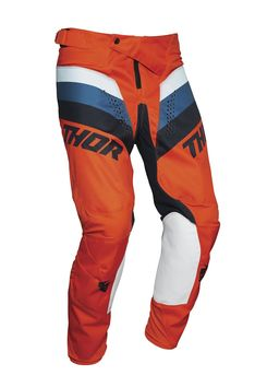 Pantalon cross enfant Thor 2021 Pulse - Orange Bleu Midnight