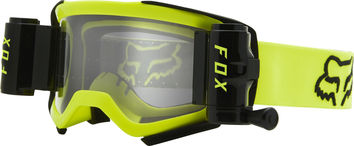 Masque cross Fox 2021 Roll Off Airspace STRAY - Jaune Fluo
