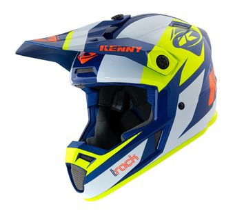 Casque cross Kenny 2021 Track - Bleu Jaune Fluo