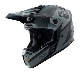 Casque cross Kenny 2021 Track - Noir Gris