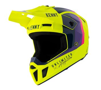 Casque cross Kenny 2021 Performance - Jaune Fluo