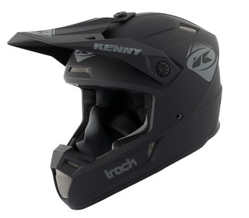 Casque cross Kenny 2021 Track Solid - Noir Mat