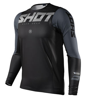 Maillot cross Shot 2021 Aerolite Airflow - Noir