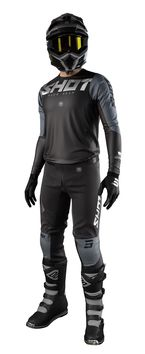 Tenue cross 2021 Shot Aerolite Airflow - Noir