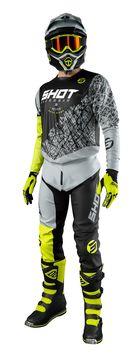 Tenue cross 2021 Shot Devo Storm - Jaune Fluo