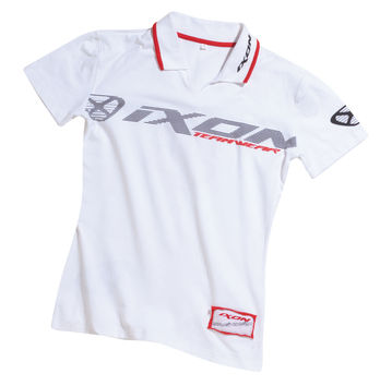 Polo femme IXON Fiction Blanc/Rouge