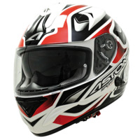 voir Casque ASTONE 2013 GTB Graphic Exclusive Sportech Noir Rouge