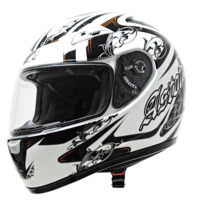 voir Casque ASTONE 2013 GTO Graphic Exclusive Versailles Blanc Noir Orange