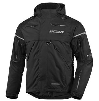 Blouson ICON Patrol Waterproof Noir
