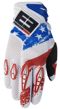 Gants cross  FREEGUN BY SHOT US 2014, bleu / rouge / blanc